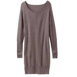 Athleta Cashmere Adi Mudra Sweater Dress Tan Mocha